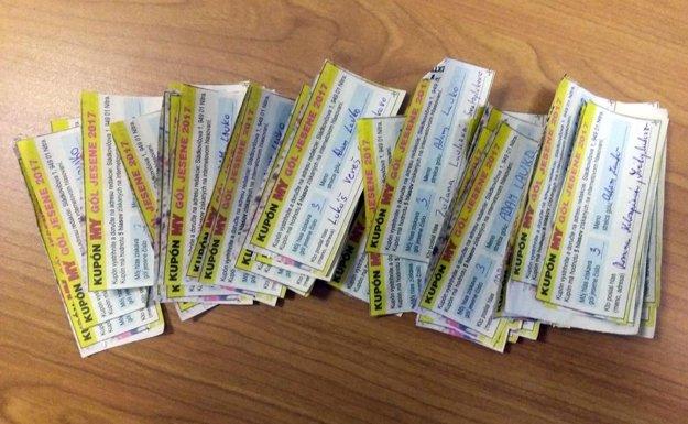 Toto sú kupóny, ktorý prišli do redakcie na podporu Adama Lauka.