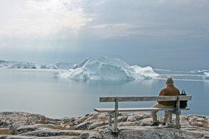 Ľadovcový fjord pri treťom najväčšom grónskom meste Ilulissat.