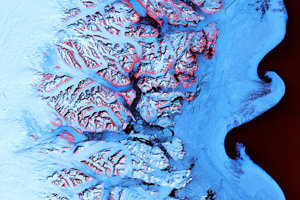 Systém fjordov na juhovýchode Grónska.
