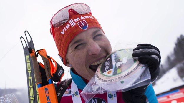 Anastasia Kuzminová po triumfe v šprinte vo francúzskom Annecy.