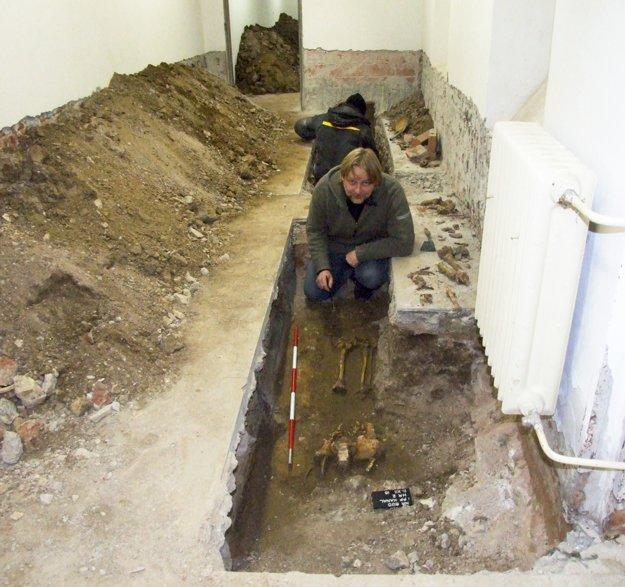 Kostry našli v ryhe, kadiaľ bude viesť dažďová kanalizácia.
