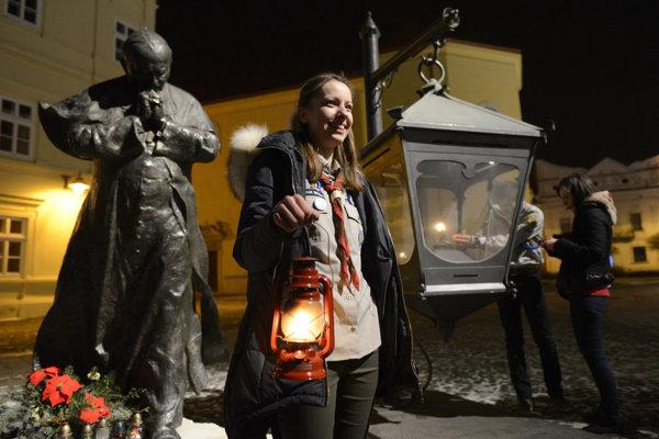 Betlehemské svetlo. Odpáliť si ho bude možné opäť i v Prešove.