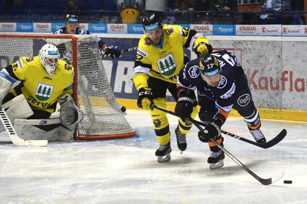 Hráč Detvy Michail Kuklev v zápase 17. kola Tipsport ligy proti Košiciam.