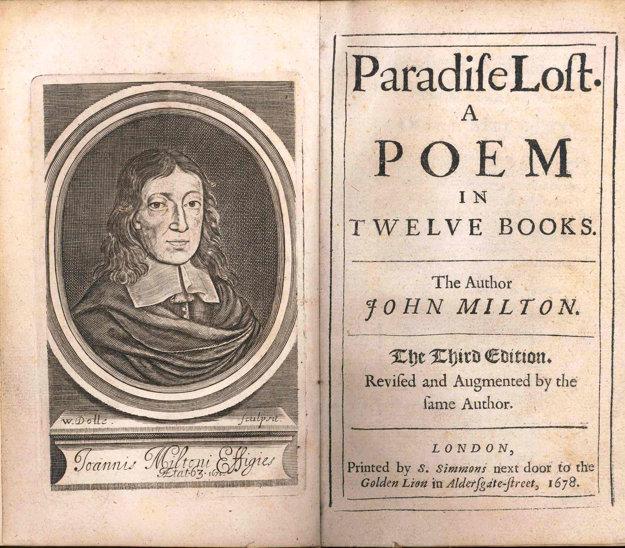 Jedno z prvých vydaní. Spolu s Miltonovou podobizňou.
