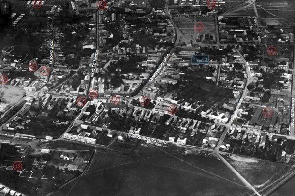 Vzácna letecká fotografia Lučenca