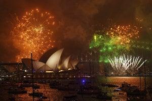 Sydney oslavuje príchod roka 2018.