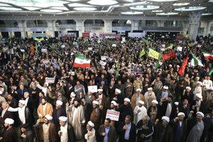 Protesty v Iráne.