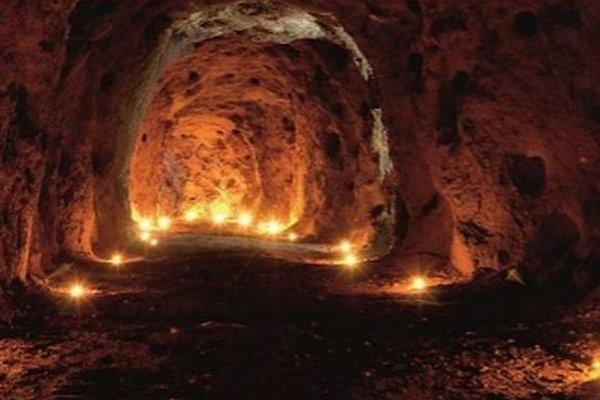 Podzemné priestory pod Fiľakovským hradom.