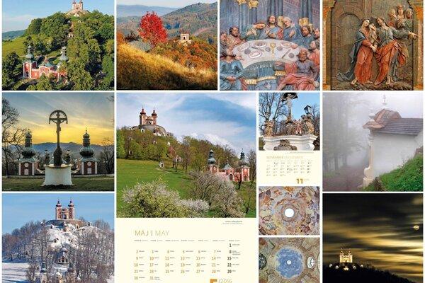 Banskoštiavnická Kalvária má svoj vlastný kalendár na rok 2016.