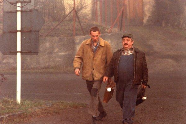 Marián Labuda a János Bán vo filme Vesničko má středisková.