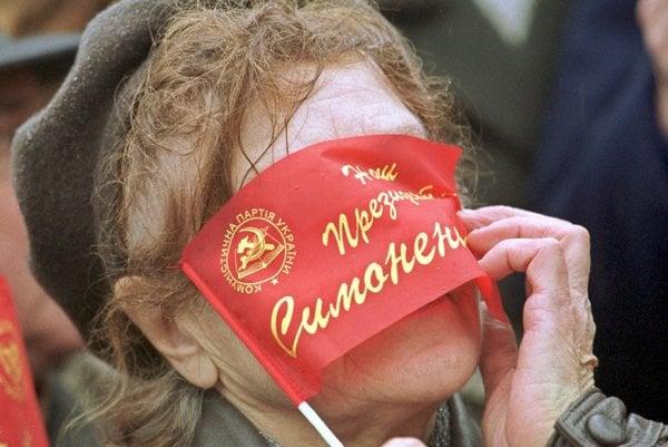 Oslavy výročia  Veľkej októbrovej socialistickej revolúcie v Kyjeve.