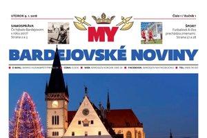MY Bardejovské noviny - prvé číslo.