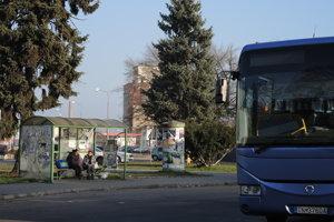 Autobusová stanica v Novom Meste nad Váhom.