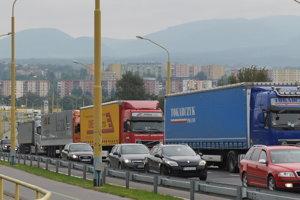 Dopravná situácia v Prešove.
