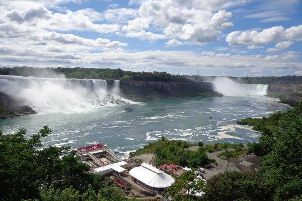 Pohľad na Niagarské vodopády z kanadskej strany