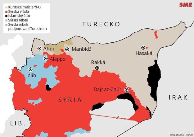 Rozdelená Sýria