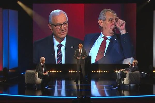 Miloš Zeman diskutoval v televíznej diskusii s Jiřím Drahošom.