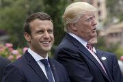 Francúzsky prezident Macron a americký prezident Trump.