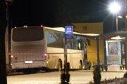 Autobus, v ktorom by mala byť bomba.