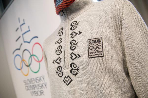 Detail oficiálneho oblečenia slovenskej olympijskej výpravy na ZOH 2018 v Pjongčangu.