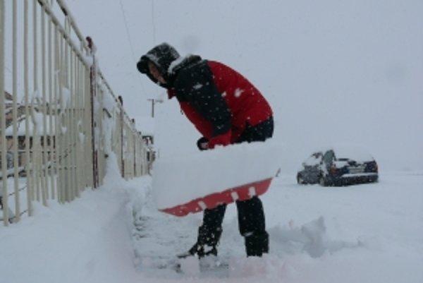 Sneh nám opäť narobil veľa roboty.