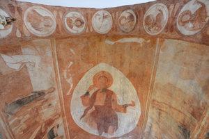 Na snímke gotické fresky v kostole Reformovanej kresťanskej cirkvi na Slovensku.