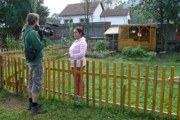 V komunitnej záhrade.