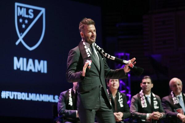 David Beckham počas predstavenia klubu.