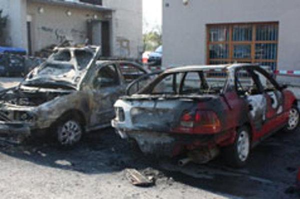 Zhorené autá