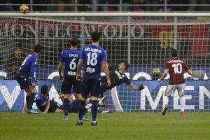 Hráči AC Miláno remizovali s Laziom Rím.