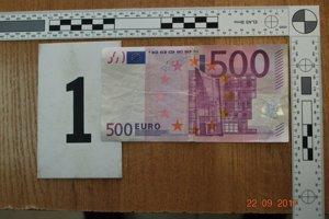 Jedna zo zadržaných bankoviek.