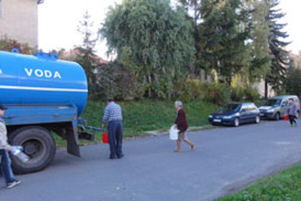 Veľa ľudí služby cisterny nevyužilo.