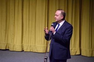 Milan Gura, primátor Čadce počas zahájenia EXPO KARIÉRA ČADCA.