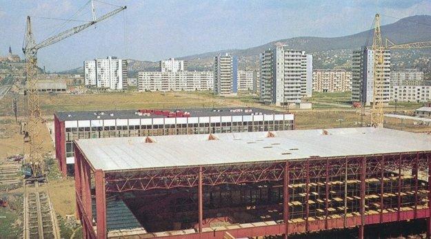 Výstavba výstavného areálu Agrokomplex (1973).