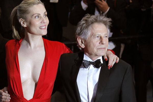 Roman Polanski s manželkou herečkou Emmanuelle Seigner.