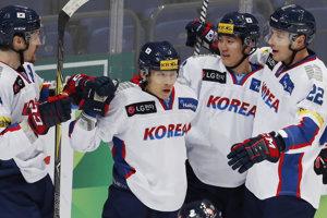 Juhokórejskí hokejisti.
