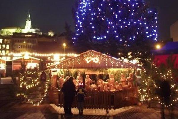 Nitriansky Betlehem vo vianočnom mestečku.