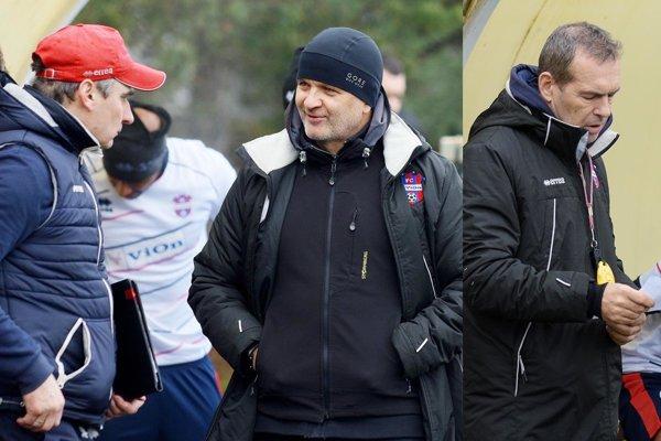 Realizačný tím tvorí zohratá trojica – zľava Branislav Mráz, hlavný kouč Juraj Jarábek aMilan Ivanka.