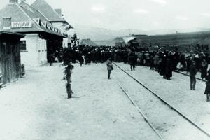 Prvý vlak na Myjave v roku 1927