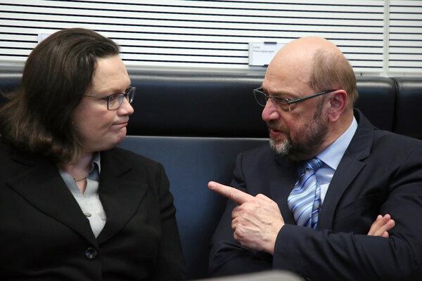 Martin Schulz a Andrea Nahlesová.