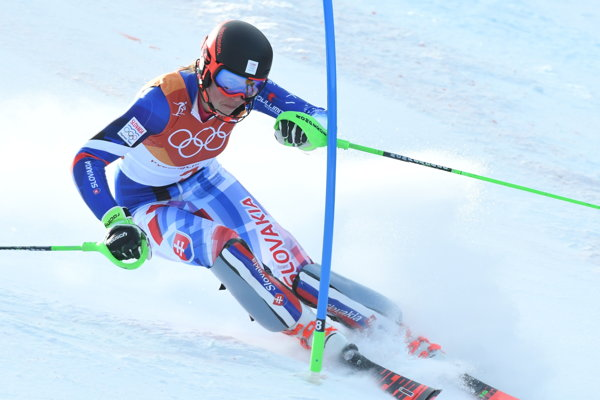 Petre Vlhovej jazda v prvom kole slalomu nevyšla.