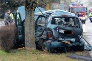 Ilustračné foto: Renault skončil obtočený okolo stromu.