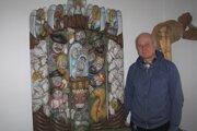 Peter Zoričák s jedným zo svojich diel.