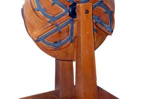 Hypotetické koleso s večným pohybom vytvorené Leonardom da Vincim.