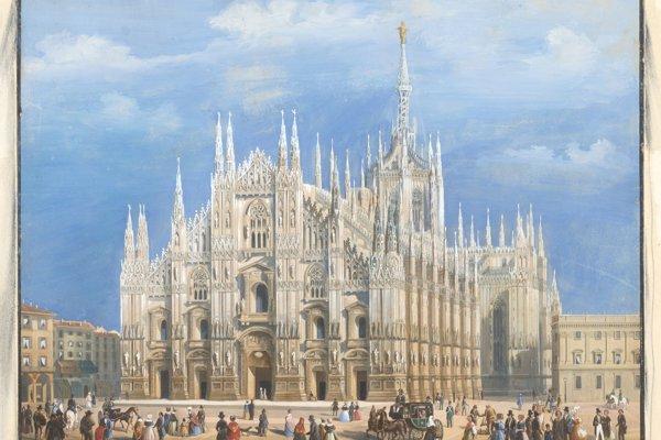 Milánsky dóm, najvýznamnejšia pamiatka talianskej gotiky.