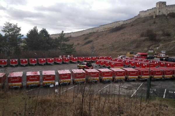 Ministerstvo vnútro odovzdalo dobrovoľným hasičom protipovodňové vozíky.