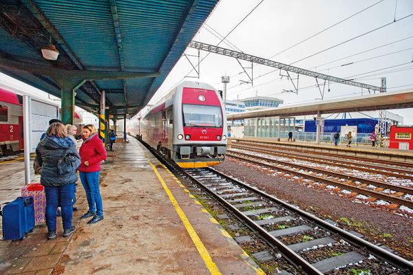 Železničná stanica v Trnave.