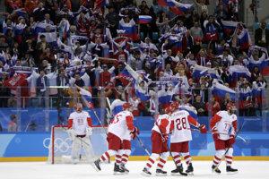 Rusi sa radujú z víťazstva.