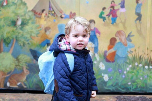 Princ George bol v škôlke prvýkrát.
