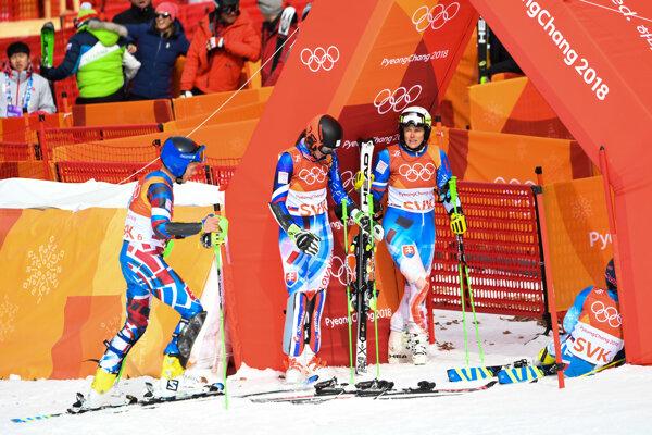 Slovenskí lyžiari nestačili v osemfinále na Nemecko.